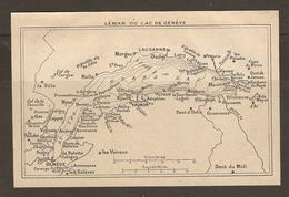CARTE PLAN 1935 - LEMAN Ou LAC De GENEVE - MORGES LAUSANNE OUCHY NYON Les VOIRONS MONTREUX VEVEY - Cartes Topographiques
