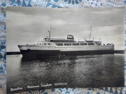 Piombino Motonave Traghetto Aethalia VIAGGIATA 1957 - Traghetti