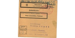 Colis Postal  -  Départ Düsseldorf   /  30-1-43 - Germany
