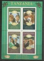 Tanzania - 1986 Royal Wedding Prince Andrew & Sarah S/sheet  MLH * - Tanzania (1964-...)