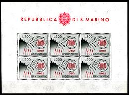 1962 - SAINT-MARIN - SAN MARINO - Catg. Unif. BF 35 - NH - (SM2017.27...) - Blocchi & Foglietti