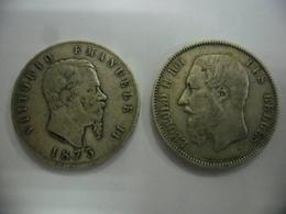 ITALIE ET BELGIQUE @ LOT 2 X ECUS Argent De 1873 De 37 Mm Pour 25 Grammes Chacun @ 2 Photos - Andere - Europa