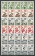 ESPAÑA FERIA MUNDIAL DE NUEVA YORK EDIFIL NUM. 1590/4 ** 10 SERIES COMPLETAS NUEVAS EN BLOQUE - 1961-70 Nuevos & Fijasellos