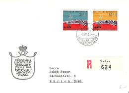 Liechtenstein 1960: Flüchtlingsjahr Réfugies Zu W27-28 Mi 389-390 Yv 331-332 R-FDC O VADUZ 7.IV.60 (Zumstein CHF 9.00) - FDC