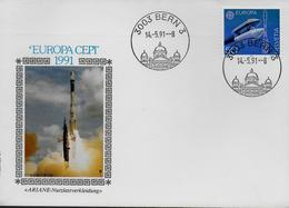 SUISSE    FDC 1991 Europa Espace Fusée Ariane - Europa