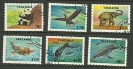 Tanzania - 1994 Endangered Species CTO    SG 1808-13  Sc 1288 Up - Tanzania (1964-...)