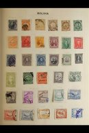 LATIN AMERICA COLLECTION 19th Century To 1960's Mostly Used Stamps With Very Little Duplication In An Old Album, Include - Non Classificati