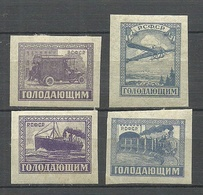 RUSSLAND RUSSIA 1922 Michel 191 - 194 Transport Famine Relief Charity * - Neufs