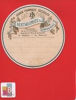 CAPDENAC   Pharmacien BERTHOUMIEU RECOULES  ETIQUETTE ANCIENNE  Pharmacie CIRCA 1900 - Autres