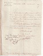 DOCUMENT : FRANCE . Mr BREMOND DOIT SE RENDRE AU DEPOT DE SON Regt . LE 24/04/1812 . - Documents