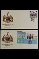 2014-17 FIRST DAY COVERS GROUP Incl. 2014 Arms Pair And Miniature Sheet, 2016 Sharks Set, QEII 90th Birthday, Authors, H - Territoire Britannique De L'Océan Indien