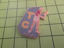 713e Pins Pin's / Rare & Belle Qualité THEME SPORTS / TENNIS CLUB FLEURY Et T'habites à Fleury ? - Tennis