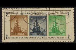 RUSSIAN ZONE THURINGIA 1945 Christmas Anti-fascism Type VI Miniature Sheet (Michel Block 1xa, SG MSRF9), Very Fine Cds U - Allemagne