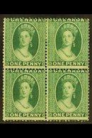 """1875 1d Green, Wmk Large Star, SG 14, Superb Mint Og Block Of 4. Ex """"Mayfair"""" Find. For More Images, Please Visit Http:/ - Grenada (...-1974)"""