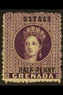 "1881 ½d Deep Mauve ""OSTAGE"", SG 21c, Fine Mint. For More Images, Please Visit Http://www.sandafayre.com/itemdetails.aspx - Grenada (...-1974)"