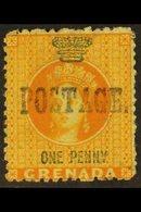 "1883 1d Orange With Large ""Postage"" Overprint, SG 27, Fine Unused. For More Images, Please Visit Http://www.sandafayre.c - Grenada (...-1974)"