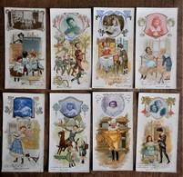 9 Cartons Publicitaires Anciens CHOCOLAT POULAIN : Scènes D'enfants, Cartons Annotés Par Des Personnalités D'époque. - Chocolat