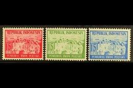 1955 RARE PROOFS. 15s Elections Perf PROOFS In Three Different Colours (red, Green & Blue) On Ungummed Paper, Catalogue  - Indonésie