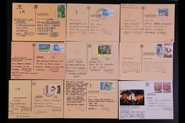 1990's COMMERCIAL MAIL. An Interesting Hoard Of Commercial POSTCARDS Mostly Addressed To Jakarta From All Over Indonesia - Indonésie
