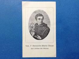 SANTINO HOLY CARD VEN P BERNARDO MARIA CLAUSI ORDINE DEI MININI - Santini