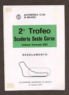 Sport - 2° Trofeo Scuderia Sesto Corse - Autodromo Monza - Regolamento - 1975 - Altri