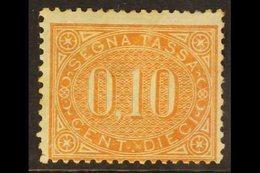 POSTAGE DUES 1869 10c Orange-brown (SG D21, Sassone 2), Mint, Reinforced Corner Perf, Cat £5,500. For More Images, Pleas - Italia