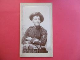 PHOTO MONTE Sur CARTON - NICE  ( 06 )  Chasseur Alpin De La 19e Compagnie - Guerre, Militaire