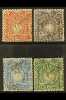 """1890-95 2r, 3r, 4r, And 5r """"Light And Liberty"""" Top Values, SG16/19, Fine Used. (4 Stamps) For More Images, Please Visit  - Publishers"""