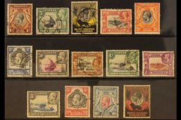 1935-37 Pictorials Complete Set, SG 110/123, Used, 10s With Small Pink Spots And £1 With Small Faults, Cat £550. (14 Sta - Publishers