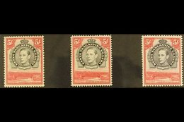 1938-54 MINT FIVE SHILLING DEFINITIVE SET. An All Different Fine Mint Set That Includes The Black & Carmine Perf 13¼ - S - Publishers