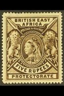 BRITISH EAST AFRICA 1897 5r Deep Sepia, SG 96, Mint , Some Thinning At Top. For More Images, Please Visit Http://www.san - Publishers