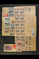 OFFICIALS ACCUMULATION 1959 Group Of Used Ovptd Stamps, Mostly Used On Piece With Values To 2s, Note Large Front, Reg'd  - Publishers