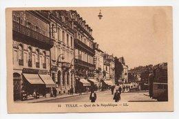 - CPA TULLE (19) - Quai De La République (avec Personnages) - Editions Lévy N° 15 - - Tulle