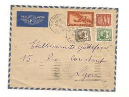 INDOCHINE 1939 ENVELOPPE DE TONKIN POUR LYON - Indocina (1889-1945)