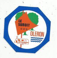 Autocollant , CAMPING ,LE SUROIT , 17,  OLERON - Autocollants