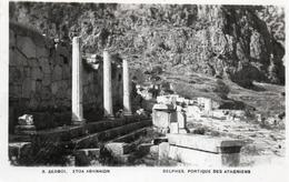 DELPHES-PORTIQUE DES ATHENIENS-1956-NON VIAGGIATA-REAL PHOTO - Grecia