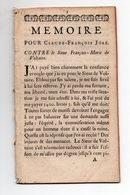 (Rouen 76 Seine Maritime) Factum : Mémoire Pour Jean François JORE, Contre François-marie De VOLTAIRE 1736 (PPP19090) - Documentos Históricos