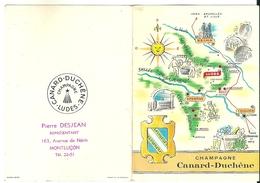 Calendrier Publicitaire 1959 Champagne Canard Duchêne Ludes Pierre Desjean Représentant Montluçon - Calendarios