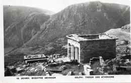 DELPHI-TRESOR DES ATHENIENS-1956-NON VIAGGIATA-REAL PHOTO - Grecia