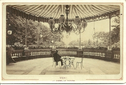 Photo Originale Collée Sur Carton - VICHY  - Le Casino -La Véranda - Photo Mme CESAR Libraire - Vichy