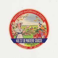 ETIQUETTE DE FROMAGE DE MAINE ET LOIRE 49 J - Cheese