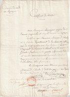 DOCUMENT : FRANCE .DE L'ARMEE IMPERIALE DU MIDI EN ESPAGNE . CERTIFICAT DE VISITE DE Mr BREMOND D'ARS . 1812 . - Documents