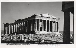 ATHENS-ACROPOLIS THE PARTHENON-1957- VIAGGIATA-REAL PHOTO - Grecia