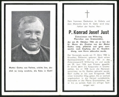Sterbebild P. Konrad Josef JustZisterzienser Von Wilhering, 1902-1964 - Dokumente