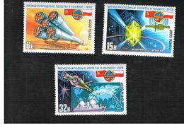 URSS -  YV. 4494.4496  -  1978   SOVIET-POLISH SPACE FLIGHT     (COMPLET SET OF 3)   - MINT** - 1923-1991 URSS