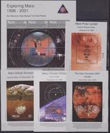 Palau 1999 Space Exploring Mars MNH Sheets - Oceania
