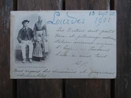 CPA 29 FAMILLE DE PLOUGASTEL DAOULAS COUPLE FILLETTE - Plougastel-Daoulas