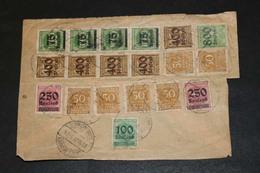 DEUTSCHES REICH Brief-Posten ....194 (F) - Sellos