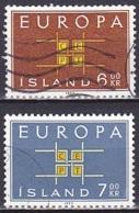 Iceland/1963 - Europa CEPT - Set - USED - 1944-... Republic