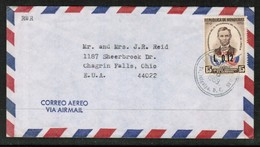 HONDURAS   SCOTT # C 348 ON 1969 AIRMAIL COVER TO USA  (OS-464) - Honduras